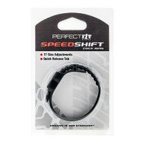 Perfect Fit Speedshift méretre állítható péniszgyűrű (fekete)