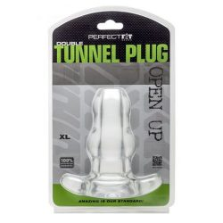 Perfect Fit Double Tunnel áttetsző fenékdugó (extra nagy)