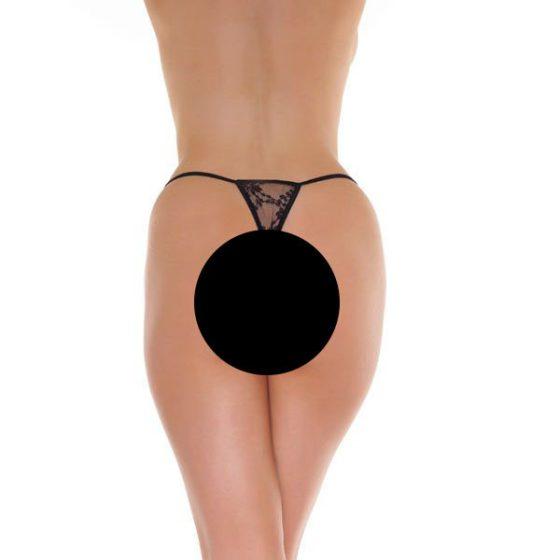 Amorable csipkés mini tanga (fekete)