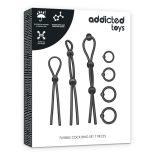 Addicted Toys 7 darabos péniszgyűrű készlet