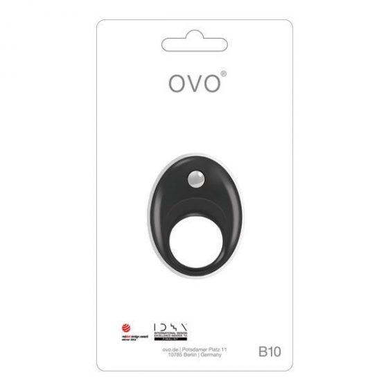 OVO B10 vibrációs péniszgyűrű (fekete) !MEGSZŰNT TERMÉK!