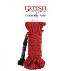 Deluxe Silky Rope bondage kötél 9,75 méter (piros)