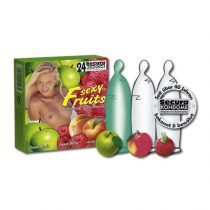 Secura Sexy Fruits 24 db gyümölcsízű óvszer