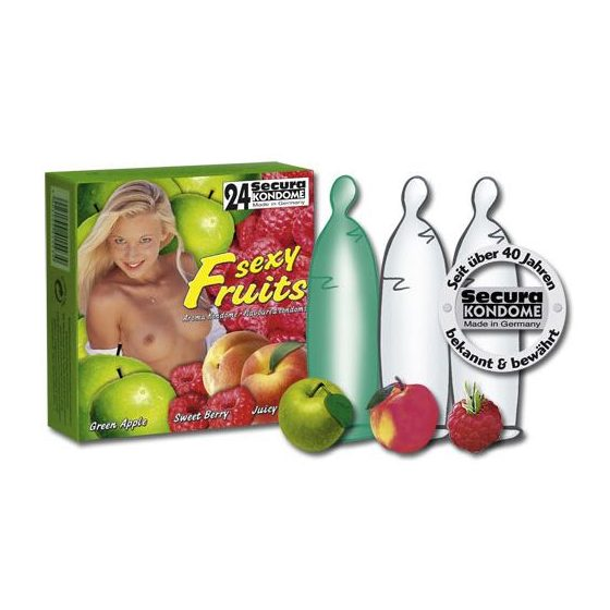 Secura Sexy Fruits 24 db gyümölcsízű óvszer !MEGSZŰNT TERMÉK!