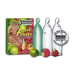 Secura Sexy Fruits 3 db gyümölcsízű óvszer