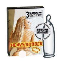 Secura Heavy Rubber 3 db extra erős anyagú óvszer
