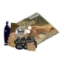 Secura Mega Pack 50 db fekete óvszer, csokoládé aromával