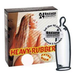 Secura Heavy Rubber 24 db extra erős anyagú óvszer