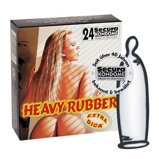 Secura Heavy Rubber 24 db extra erős anyagú óvszer !MEGSZŰNT TERMÉK!