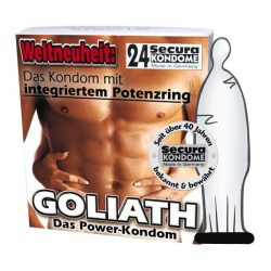 Secura Goliath 24 db szűkített szárú óvszer