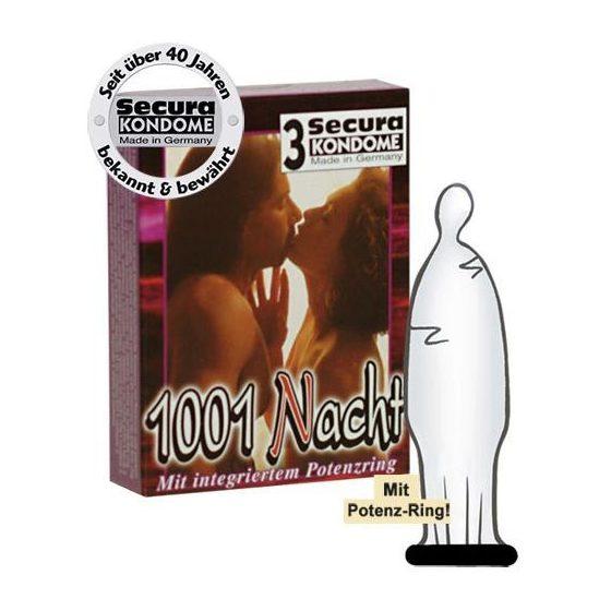 Secura 1001 Nacht 3 db óvszer, potenciagyűrűvel !MEGSZŰNT TERMÉK!