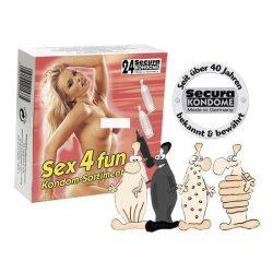 Secura Sex4Fun 6 x 4 db különleges óvszer