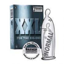 Secura XXL 3 db extra méretű óvszer