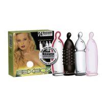 Secura SexBox 4 x 6 db óvszer, különféle tulajdonságokkal