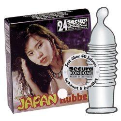 Secura Japan Rubber 24 db szűk, bordázott óvszer