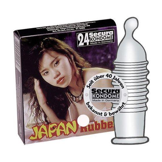Secura Japan Rubber 24 db szűk, bordázott óvszer !MEGSZŰNT TERMÉK!