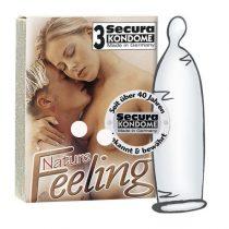 Secura Nature Feeling 3 db óvszer, vékonyabb falvastagsággal