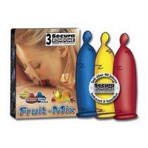 Secura Fruit Mix 3 db gyümölcsízű óvszer