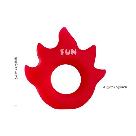 Fun Factory Flame péniszgyűrű (ezüst)