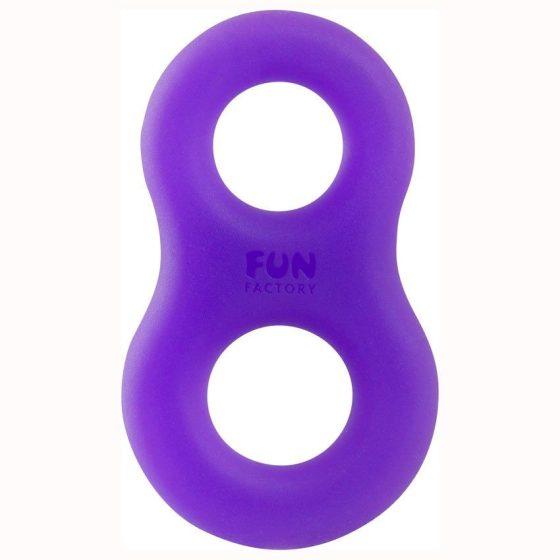 Fun Factory 8ight péniszgyűrű (lilatürkizkék) !MEGSZŰNT TERMÉK!