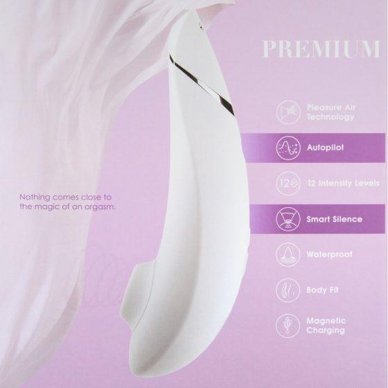 Womanizer Pro40 léghullámos csiklóizgató (fehér)