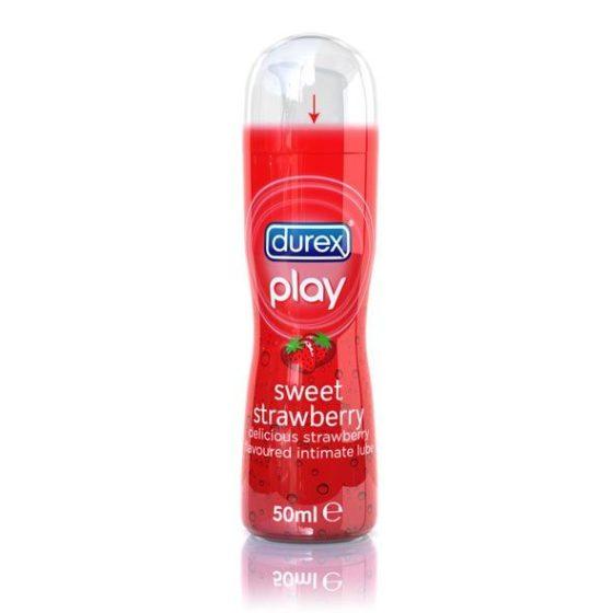 Durex Play Sweet Strawberry vízbázisú síkosító, eper aromával (50 ml)