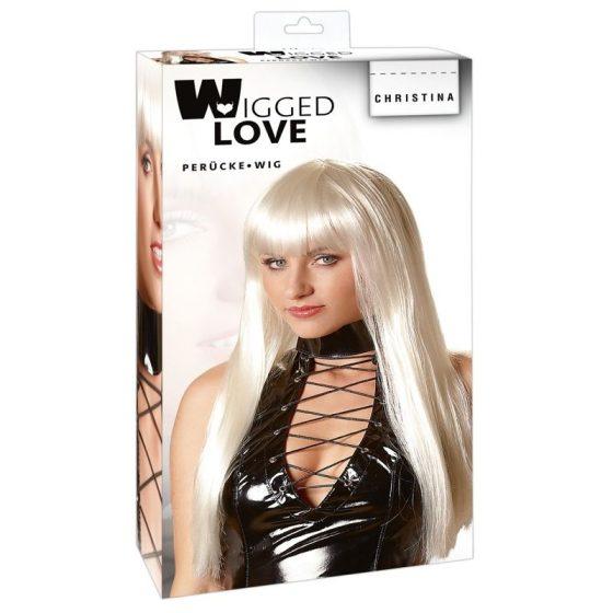 Wigged Love hosszú, platinaszőke paróka !MEGSZŰNT TERMÉK!