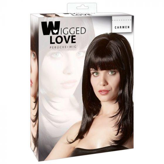 Wigged Love hosszú, fekete paróka !MEGSZŰNT TERMÉK!