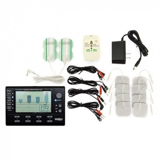 Rimba Négycsatornás elektrostimulációs készlet, LCD kijelzővel