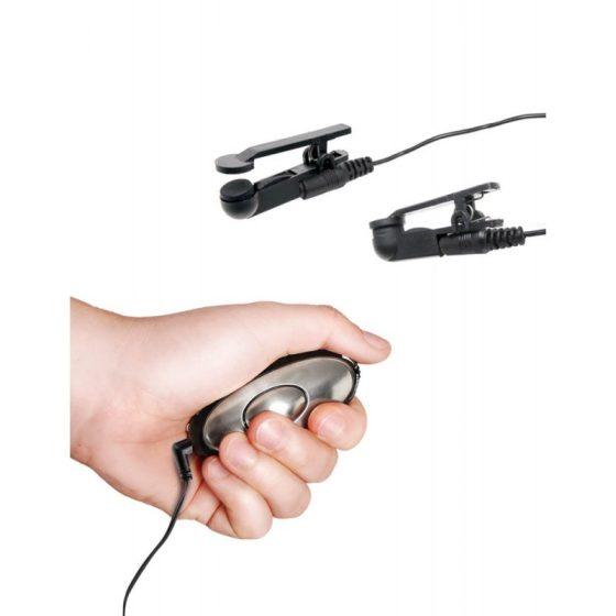 Shock Therapy elektrostimulációs készlet, bimbócsipeszekkel
