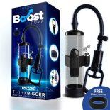 Boost PSX06 kétujjas péniszpumpa, vibrációval (áttetsző)