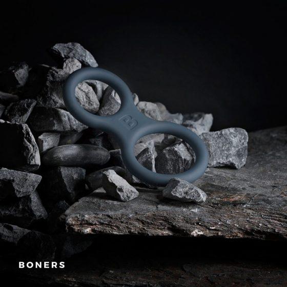 Boners szilikon péniszgyűrű és herepánt