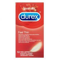 Durex Feel Thin 12 db vékonyfalú óvszer