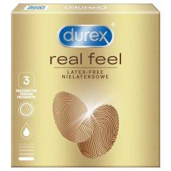 Durex Real Feel latex mentes óvszer (3 db)