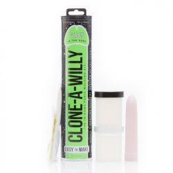 Clone A Willy péniszmásoló készlet, vibrátorral (fluoreszkáló)