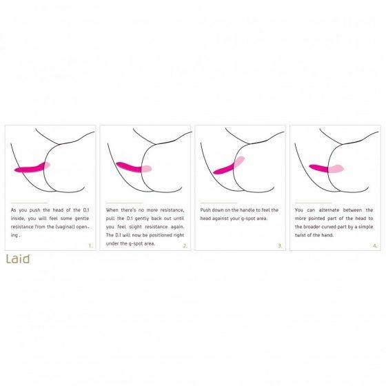 Laid D.1 dildó (rózsaszín)