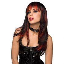 Pleasure Courtney paróka (fekete, vörös csíkokkal)