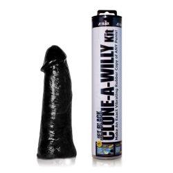 Clone A Willy péniszmásoló készlet, vibrátorral (fekete bőr)