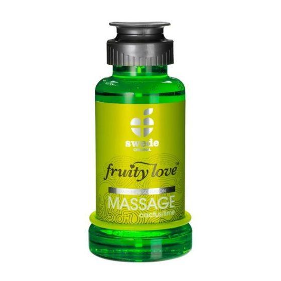 Swede Fruity Love masszázsolaj, kaktusz és lime aromával (100 ml)