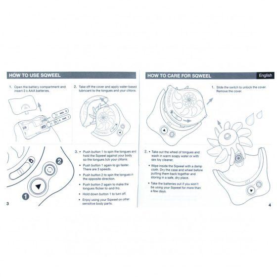 Sqweel V2.0 rotációs orál-szex szimulátor (fehér)