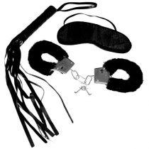 S&M alap készlet (bilincs, korbács és szemmaszk)