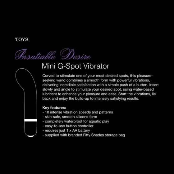 A Szürke Ötven Árnyalata Insatiable Desire mini g-pont vibrátor