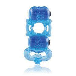 The Screaming O The TriO Blue dupla vibrációs péniszgyűrű (kék)