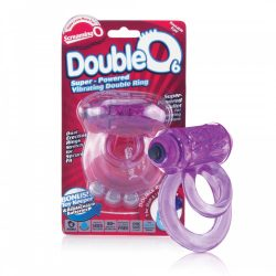 The Screaming O DoubleO 6 dupla pántos, vibrációs péniszgyűrű (lila)