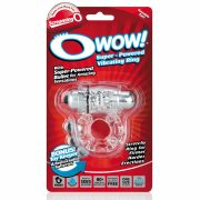 The Screaming O Owow vibrációs péniszgyűrű (áttetsző)