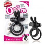 The Screaming O The Ohare dupla pántos, vibrációs péniszgyűrű (fekete)