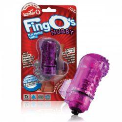 The Screaming O The FingO Nubby ujjra húzható vibrátor (lila)
