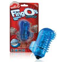 The Screaming O The FingO Nubby ujjra húzható vibrátor (kék)