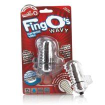 The Screaming O The FingO Nubby ujjra húzható vibrátor (áttetsző)