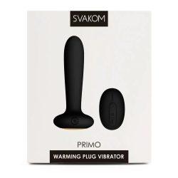 Svakom Primo anál vibrátor, melegítő funkcióval (fekete)
